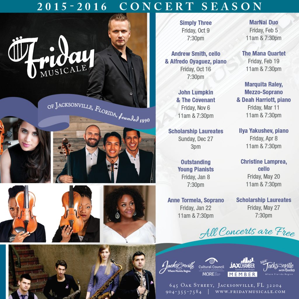 Friday Musicale Concert Season