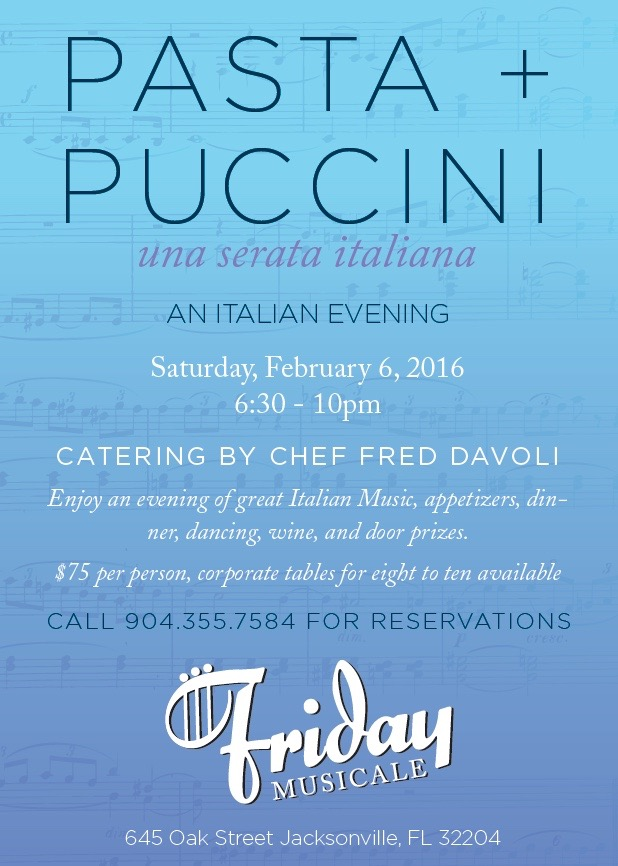 Pasta & Puccini Save the Date