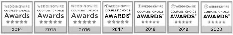 Wedding Wire Award 7th yr